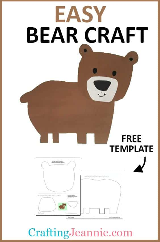 bear craft picture for pinterest Crafting Jeannie