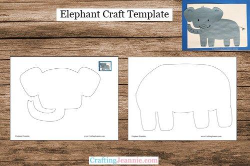 elephant craft template