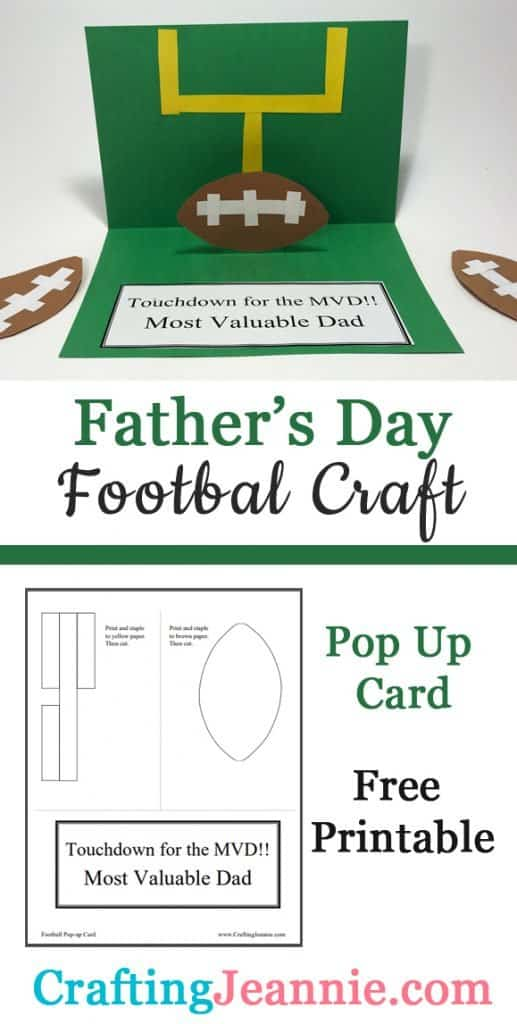 Father's Day football craft image for Pinterest