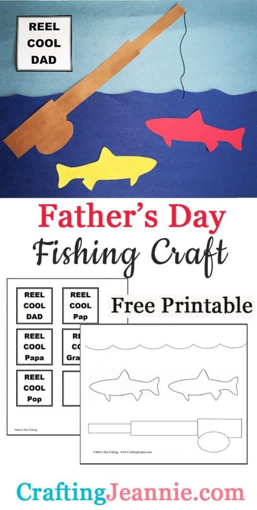 Father's Day fishing craft image for Pinterest