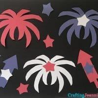 paper fireworks craft CraftingJeannie