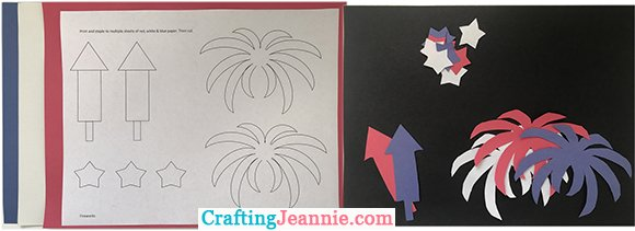 fireworks template ready to cut