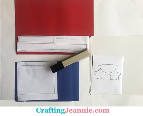 american flag craft shapes ready to cut