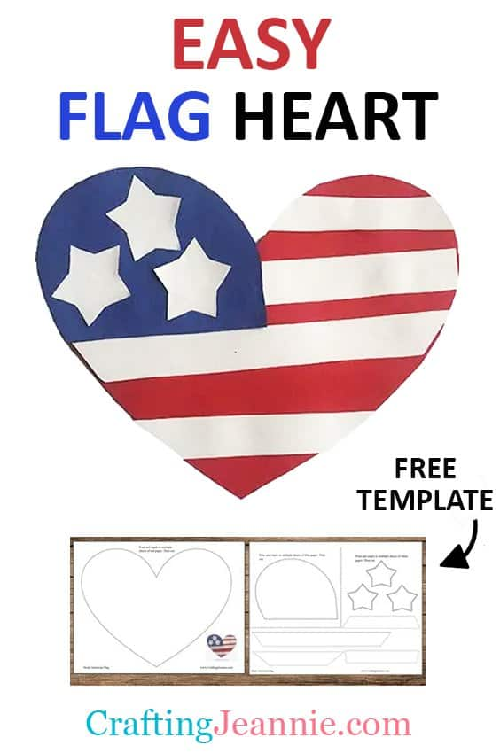 heart flag craft picture for pinterest Crafting Jeannie