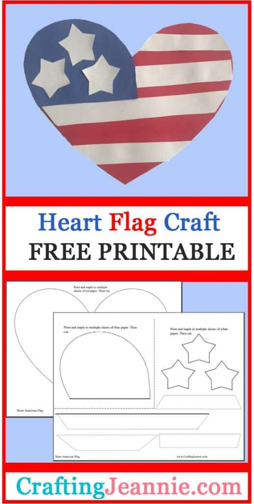 American Flag heart craft image for Pinterest