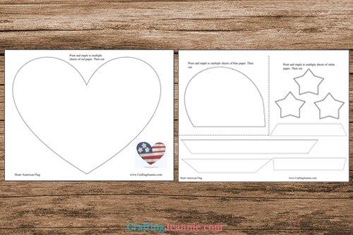Heart Flag template
