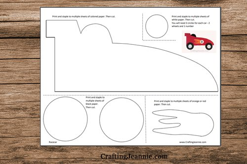 pages of car template pdf