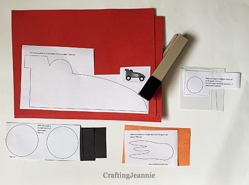 car craft printable ready for cutting and pieces