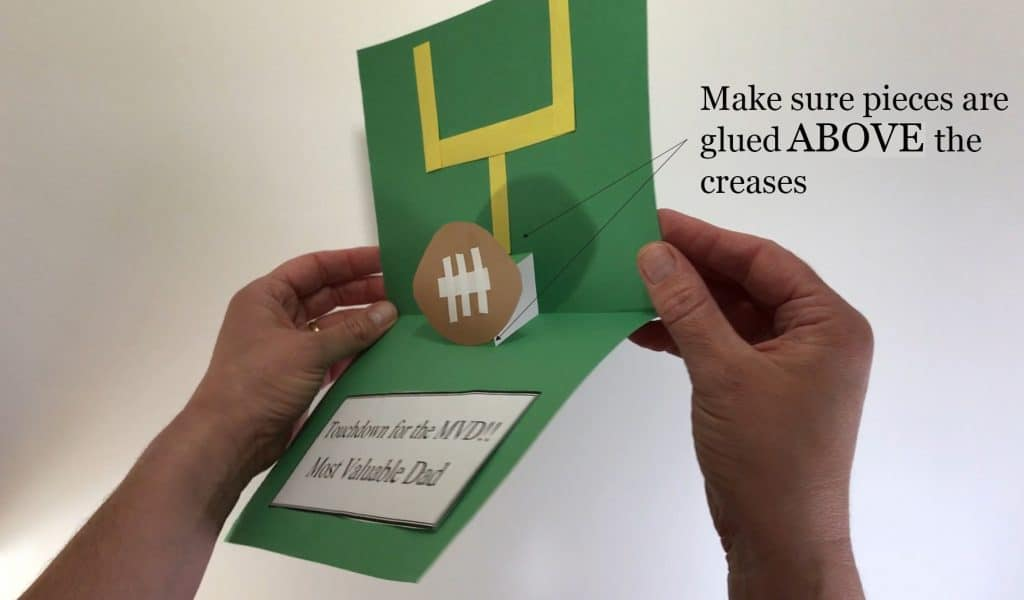 Fathers day football craft make sure to glue above creases