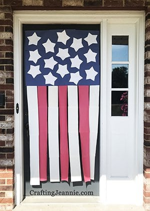 door flag craft by Crafting Jeannie