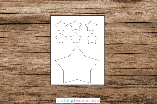 Star template by Crafting Jeannie