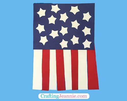 simple flag craft by Crafting Jeannie