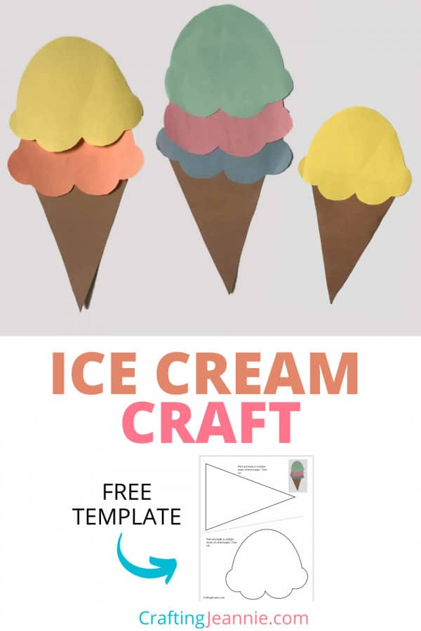 Paper Ice Cream craft pinterest by crafting Jeannie