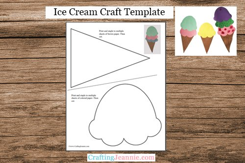 Ice cream craft template by Crafting Jeannie