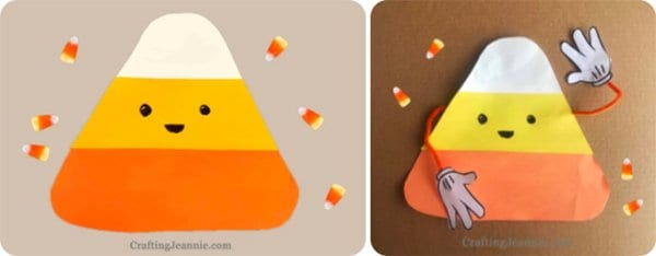 Candy Corn Craft by Crafting Jeannie
