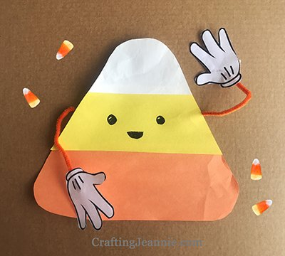 candy corn cone craft printable ready for cutting and pieces