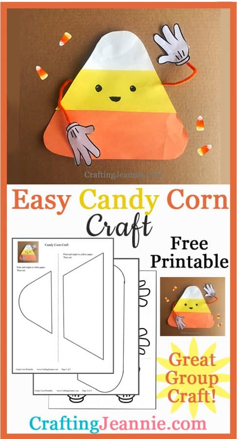 Candy Corn craft pinterest ad Crafting Jeannie