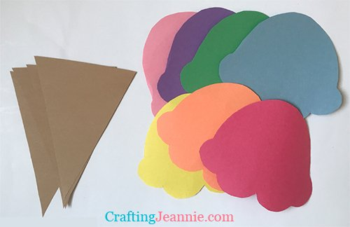 Ice Cream Craft template pieces ready to go