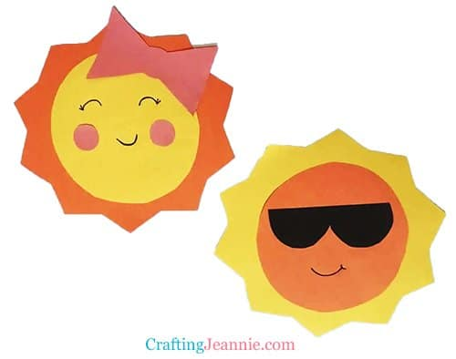 sun craft for toddlers by Crafting Jeannie