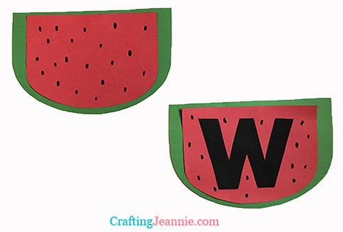 Toddler Watermelon craft by Crafting Jeannie