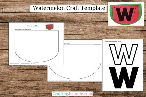 Watermelon Craft Template by Crafting Jeannie