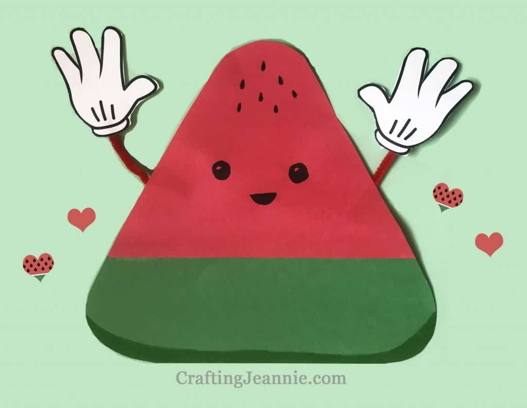 watermelon slice craft with hands crafting jeannie