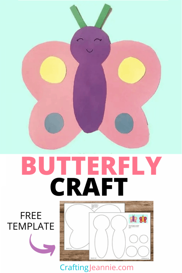 Butterfly craft pinterest by crafting Jeannie