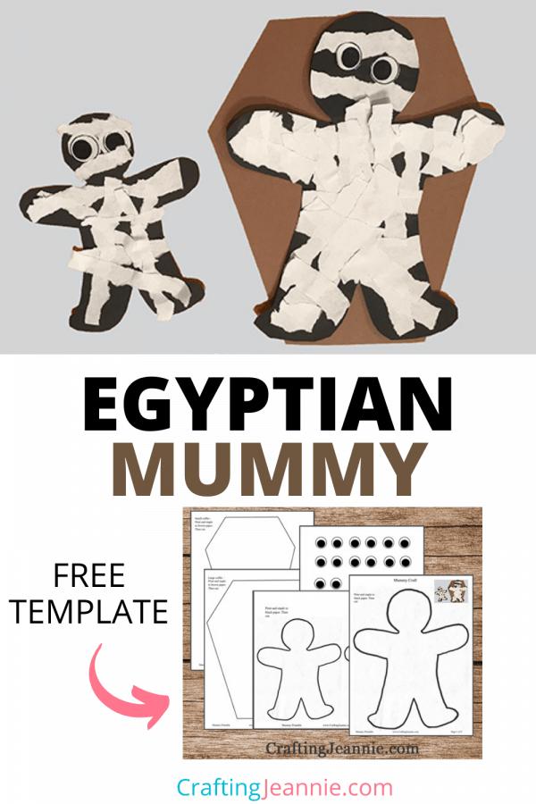 Egyptian Mummy Craft for Pinterest