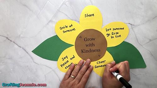 sunflower craft for kindergarteners