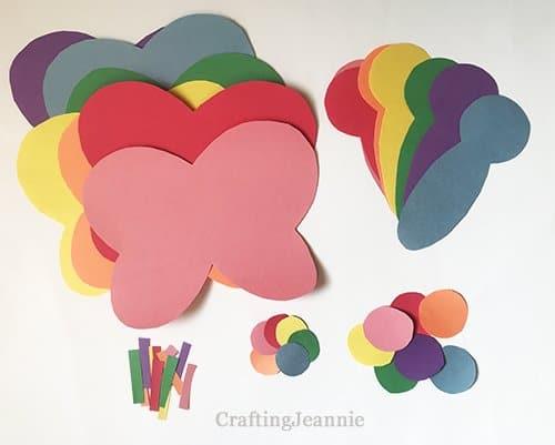 paper butterflies craft pieces