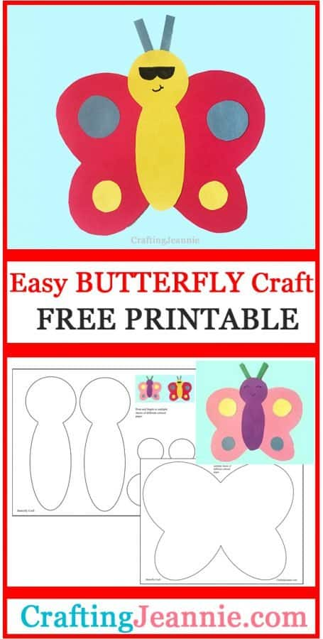 butterfly craft for pinterest