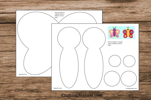 pages of butterfly template pdf