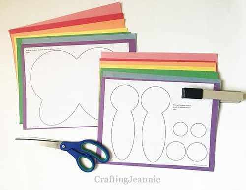 butterfly craft printable ready for cutting