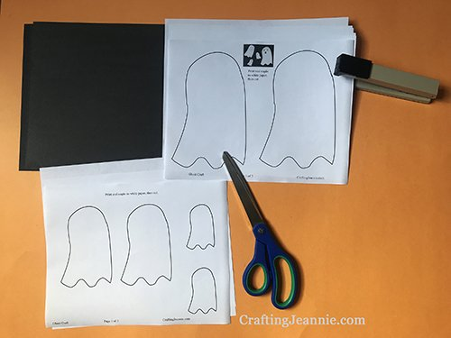 halloween ghost craft printable ready for cutting