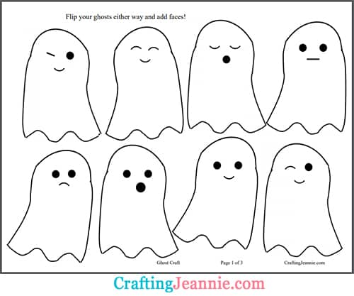 ghost faces for halloween craft