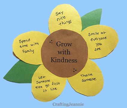 kindness sunflower craft