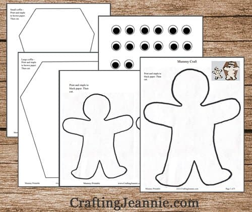 pages of mummy template pdf