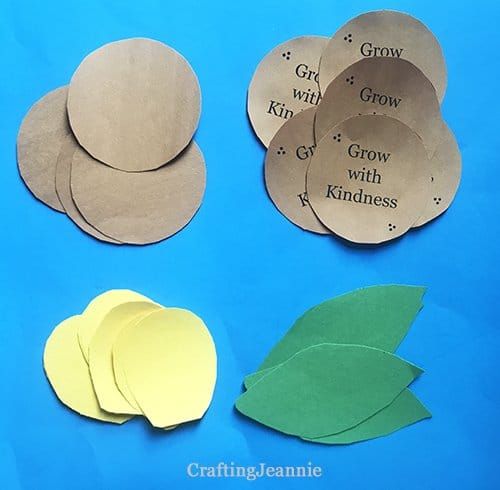 fall flower craft pieces