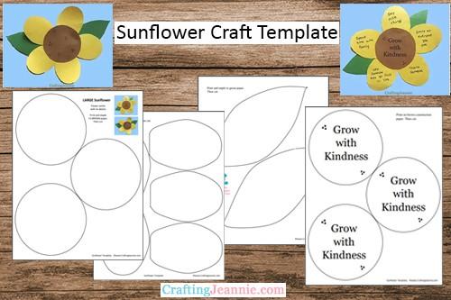 Sunflower craft template