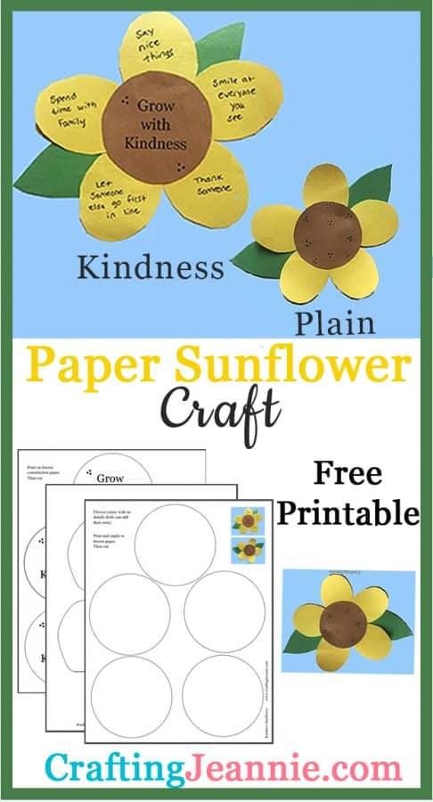 sunflower craft pinterest ad Crafting Jeannie