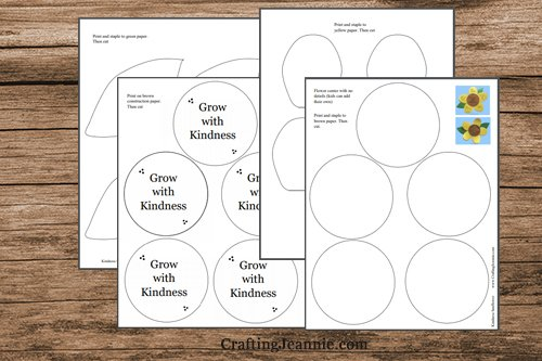 pages of sunflower template pdf