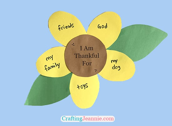 Thankful Craft for Kindergarteners by Crafting Jeannie