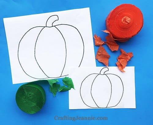 Fall Pumpkin craft printable and supplies