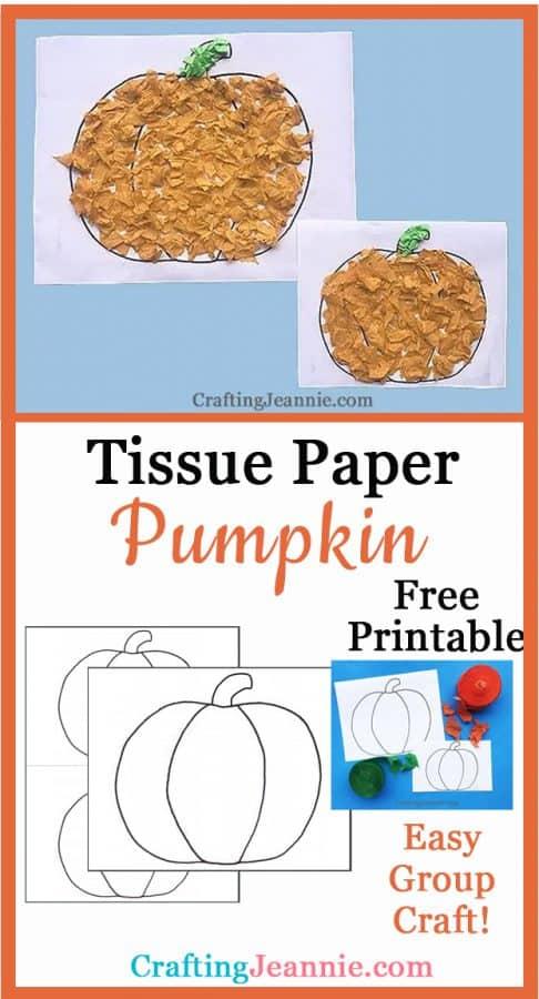 tissue paper pumpkin craft pinterest ad Crafting Jeannie