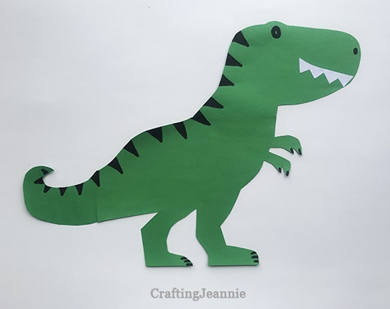 T-Rex dinosaur craft with printable template CraftingJeannie