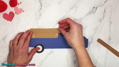 glue the pocket onto the truck craft