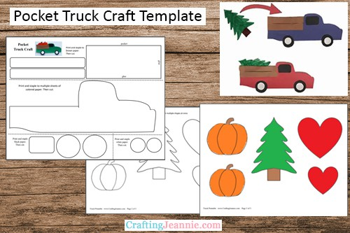 Holiday truck craft template by Crafting Jeannie