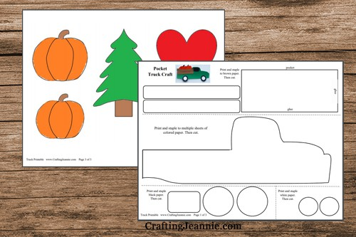 pages of holiday truck printable