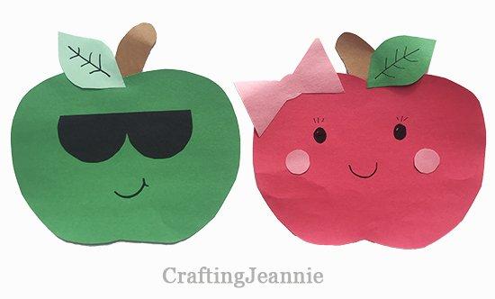 Easy paper apple preschool craft