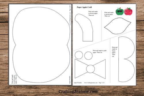 pages of apple template pdf